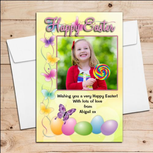 10 Personalised Happy Easter PHOTO Cards N1